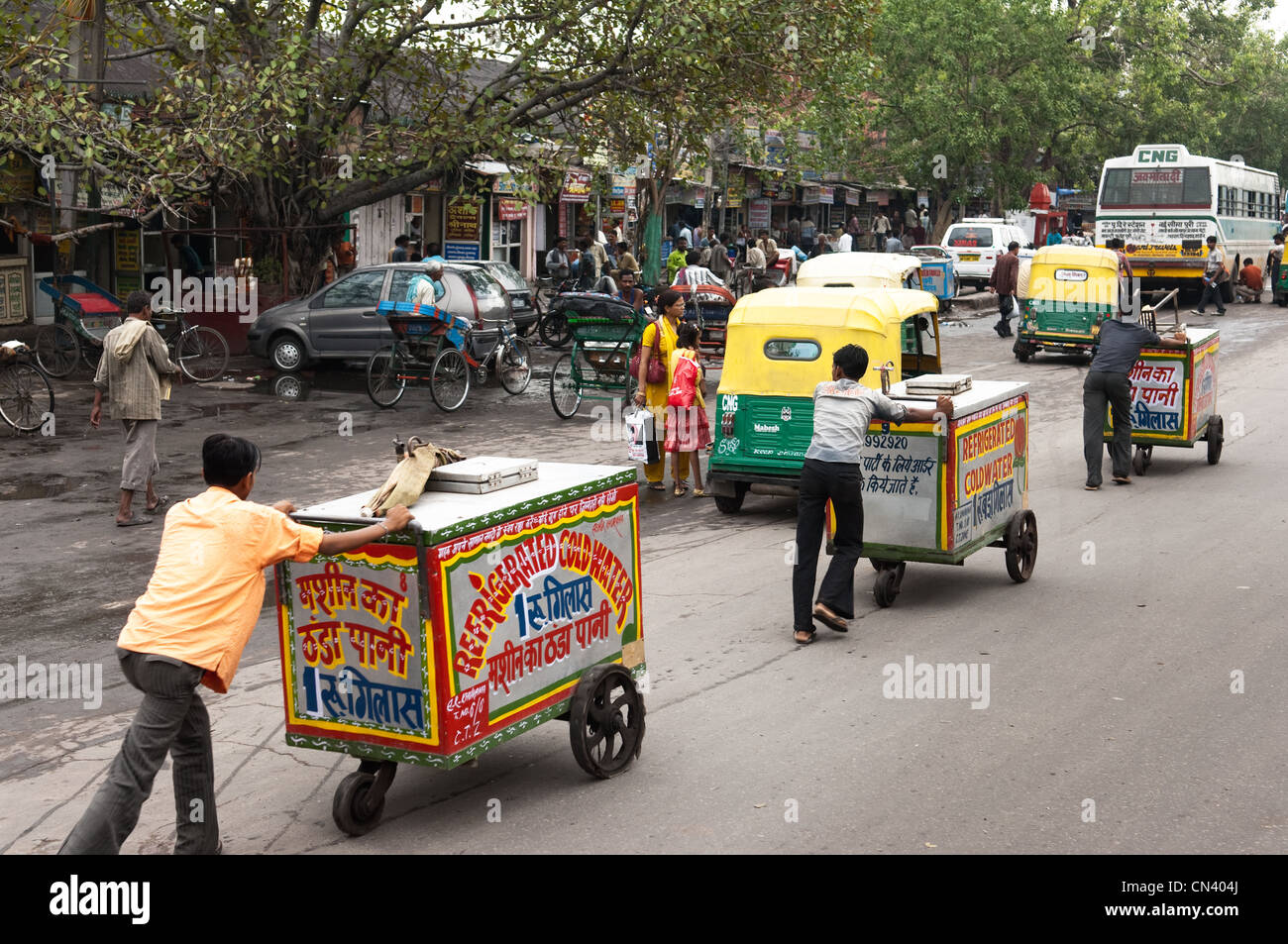 Busy street in India - Stock Image