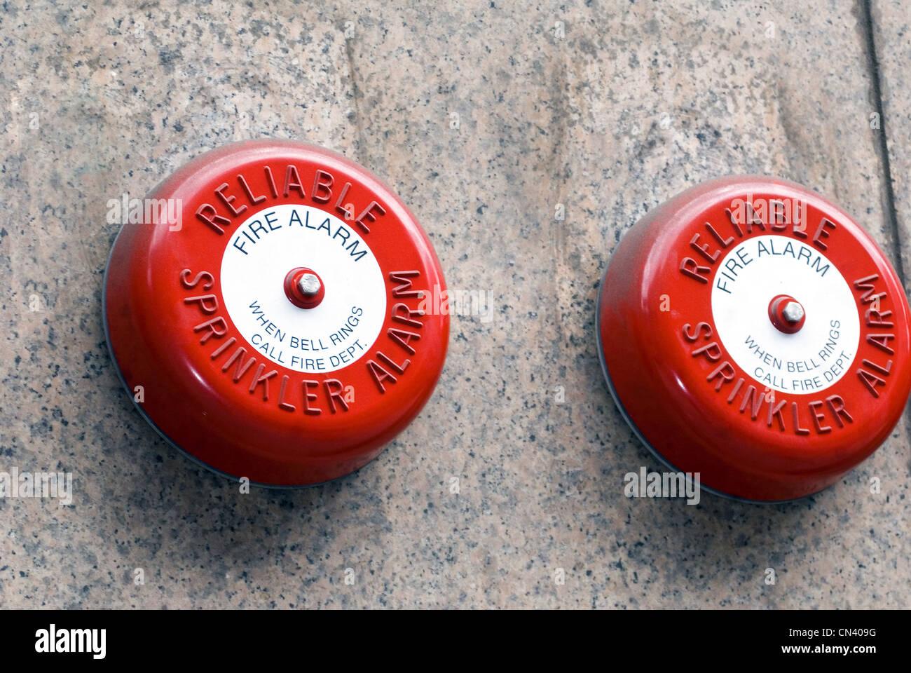 Old Sprinkler Alarm - Stock Image