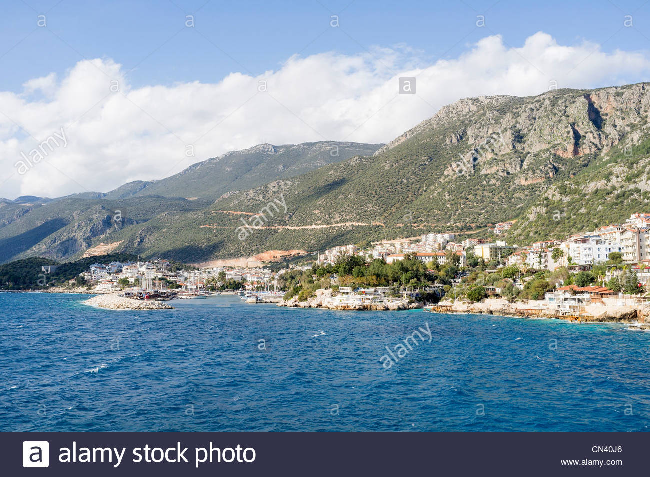 Town of Kaş, Antalya Province, Turkey - Stock Image