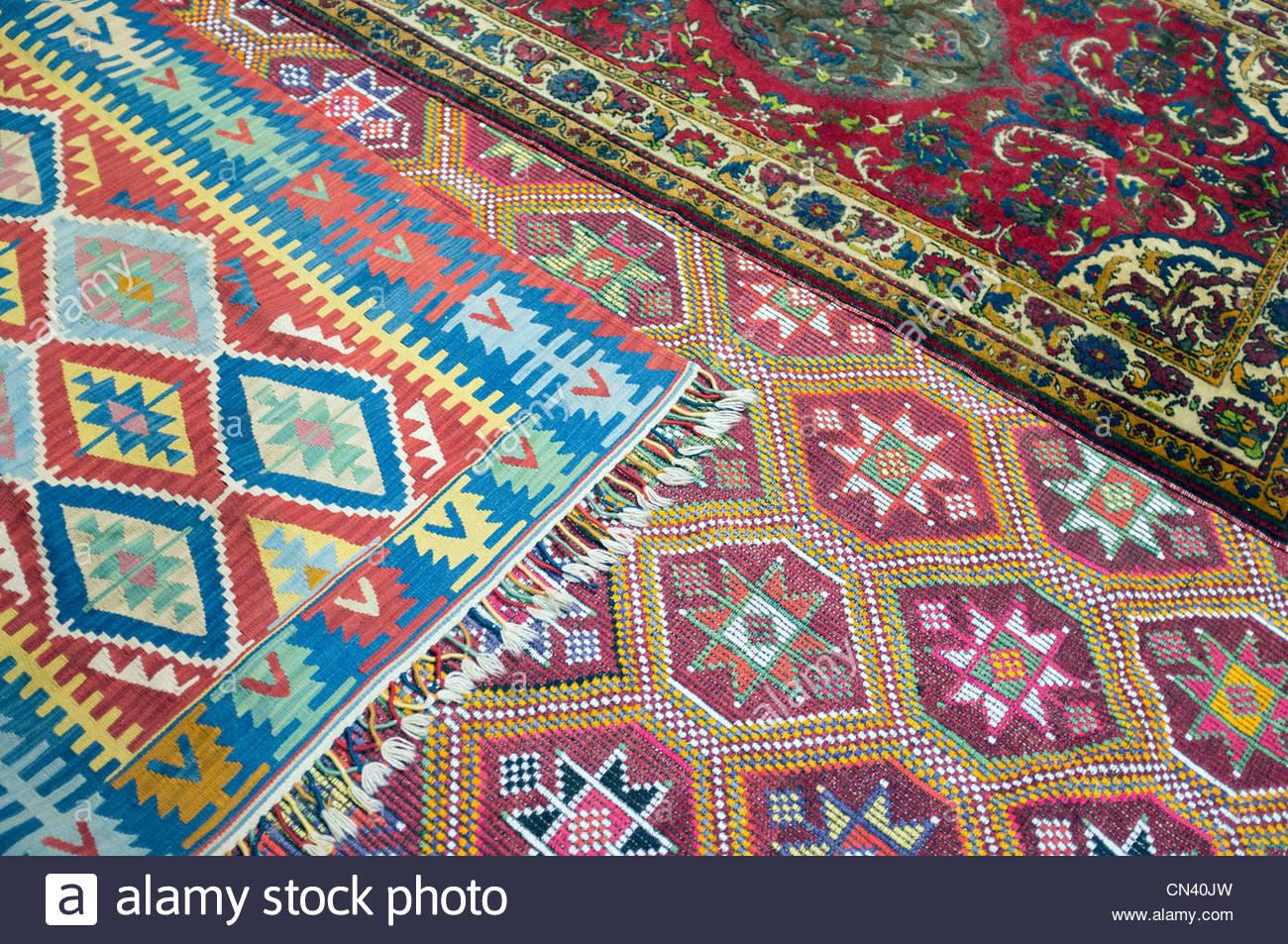 Turkish rugs, Selçuk, İzmir Province, Turkey - Stock Image