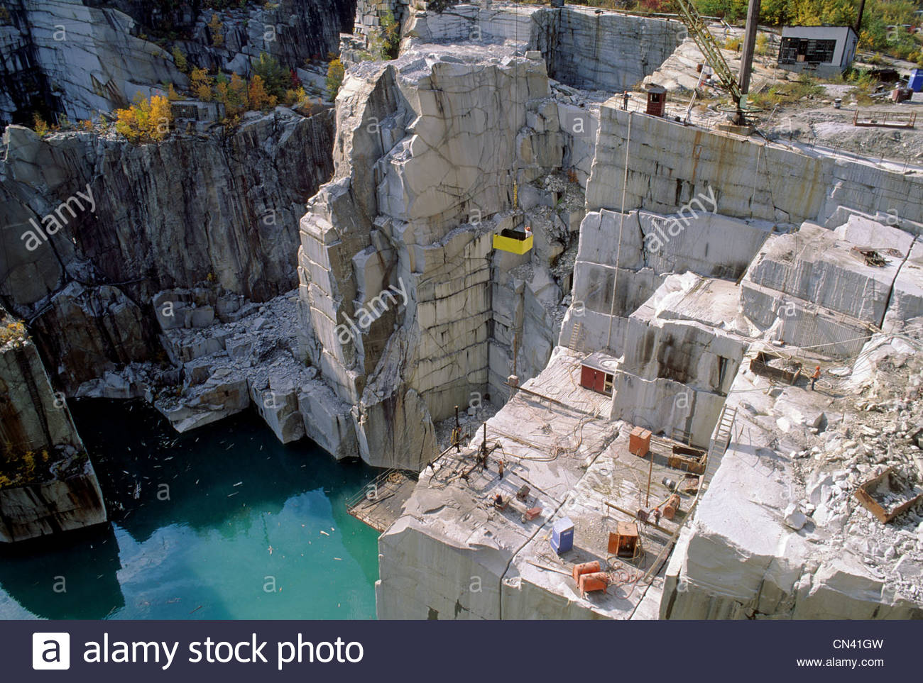 Rock of Ages granite quarry in Barry, Vermont, USA Stock Photo