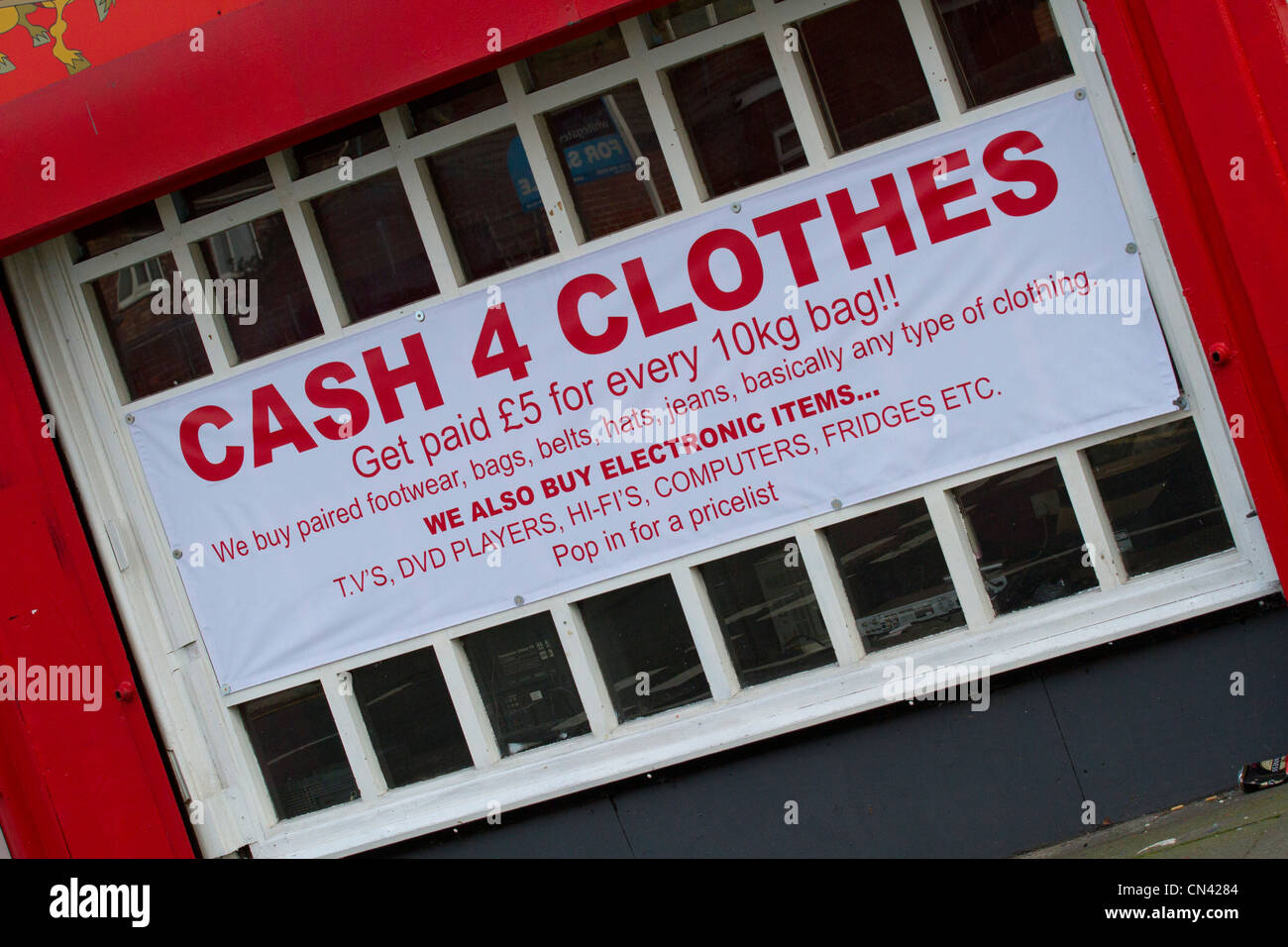1373631bb9 Cash for clothes shops in various places around Liverpool - Stock Image