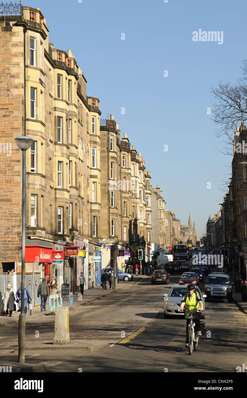 Morningside Road, Edinburgh. - Stock Image