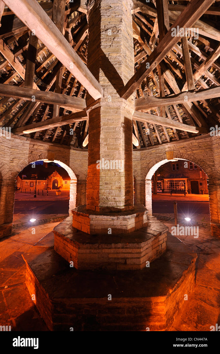 The Market Cross or Butter Cross, in the centre of Somerton, Somerset, UK. - Stock Image