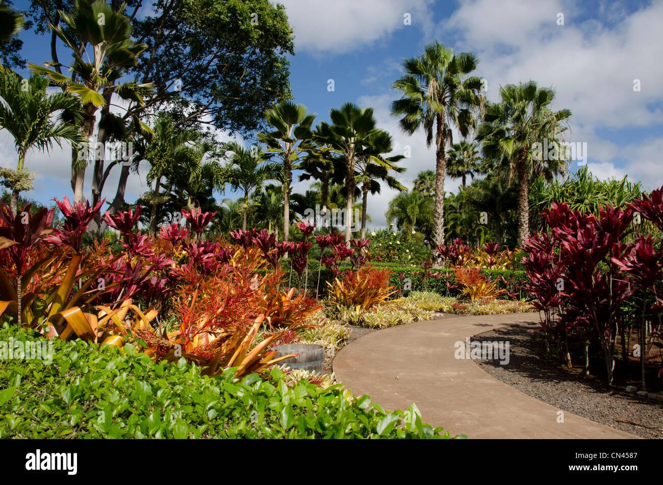 The Plantation Garden Tour at the Dole Plantation in Wahiawa, Oahu, Hawaii - Stock Image