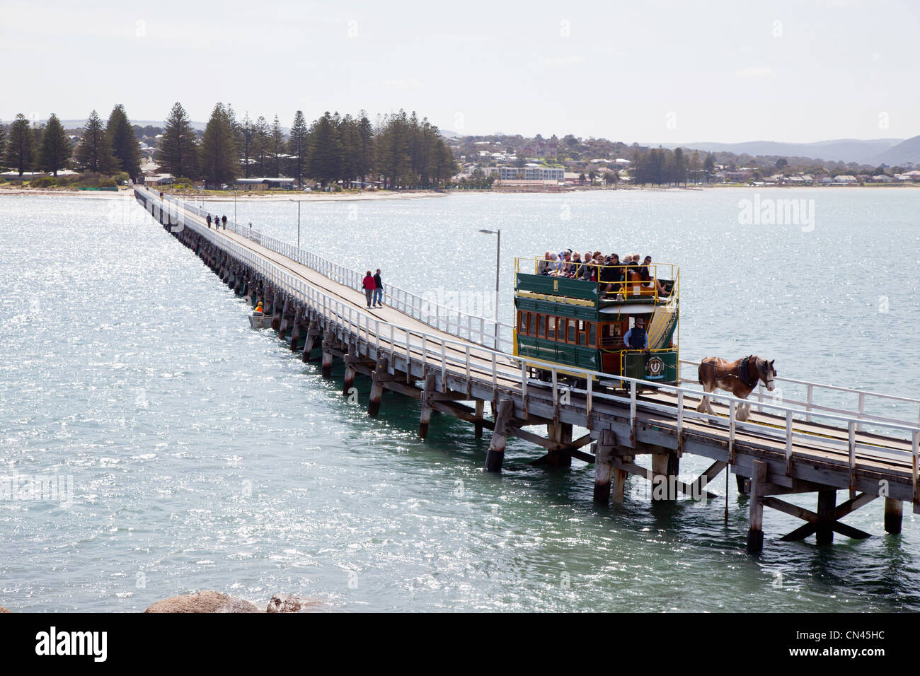 Victor Harbour cause way South Australia - Stock Image