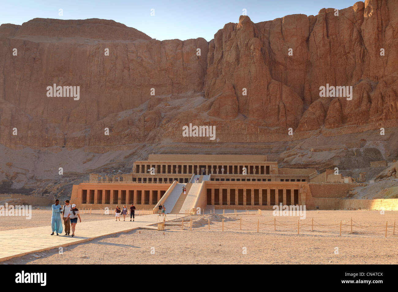 Egypt - Valley of the Queens, Hatshepsut Temple, Unesco - Stock Image