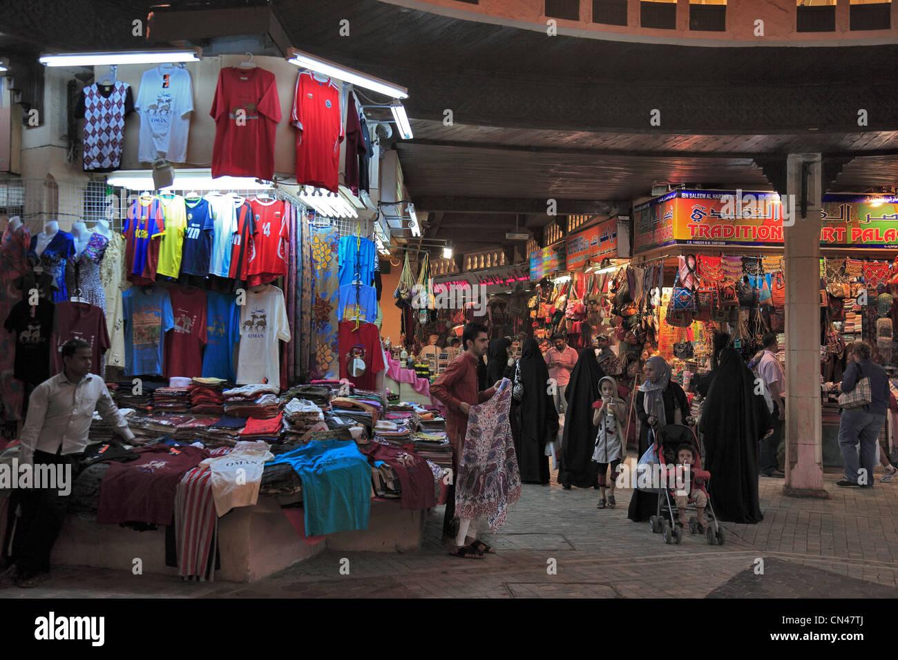 Händler im Mutrah-Souk, Muscat, Oman - Stock Image
