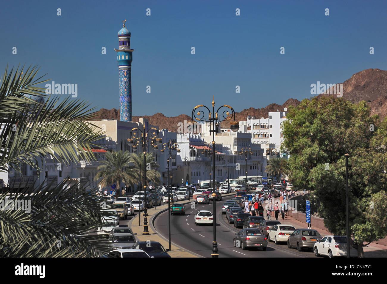 Blick auf die Corniche, Muthra, Muscat, Oman Stock Photo