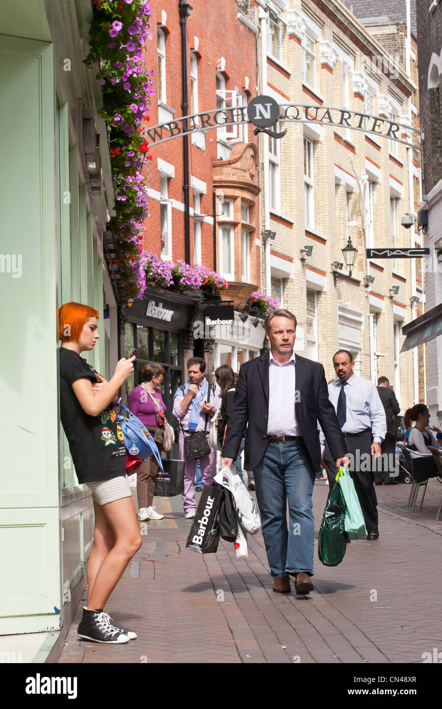 United Kingdom, London, Carnaby, Newburgh Quarter, pedestrian street - Stock Image