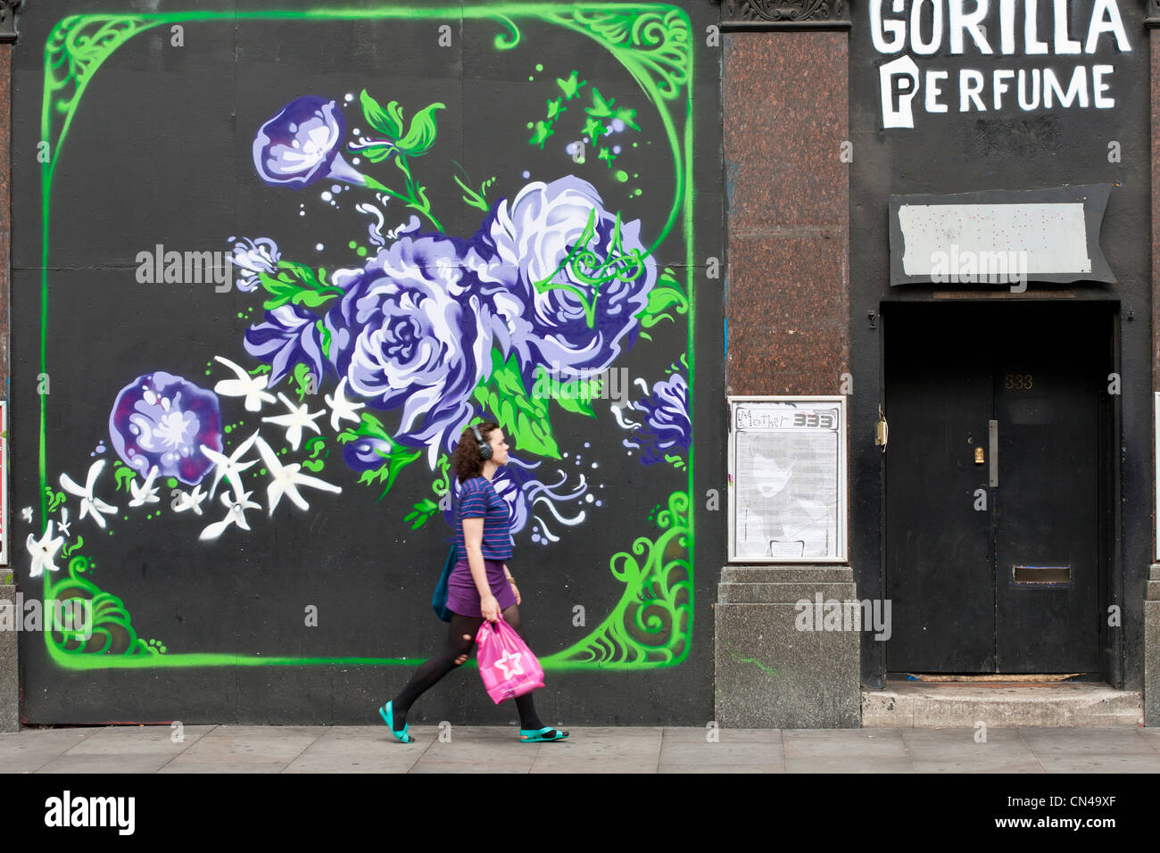 United Kingdom, London, Hackney, Shoreditch, front of club 333 Mother - Stock Image
