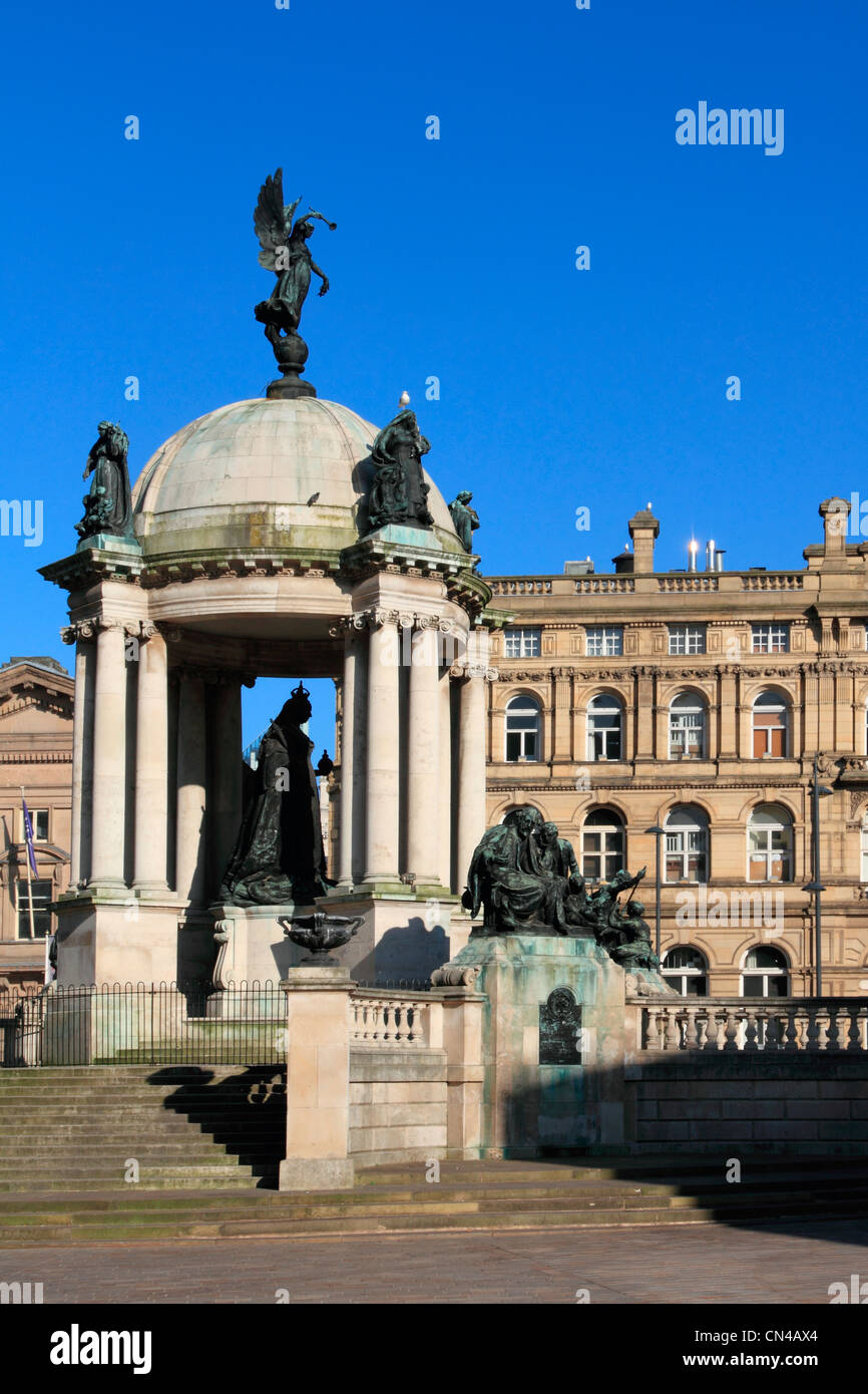 England Merseyside Liverpool, Derby square Victoria monument - Stock Image