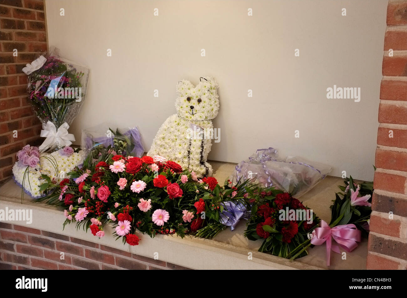 Funeral flower stock photos funeral flower stock images alamy funeral flower wreaths bedford uk 2012 stock image izmirmasajfo