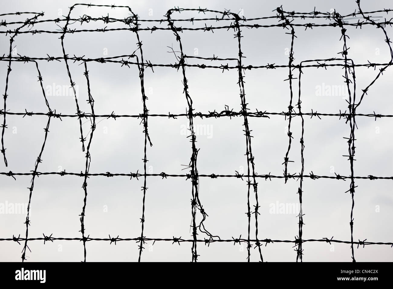 Security Barbed Wire Fence Stock Photos & Security Barbed Wire Fence ...