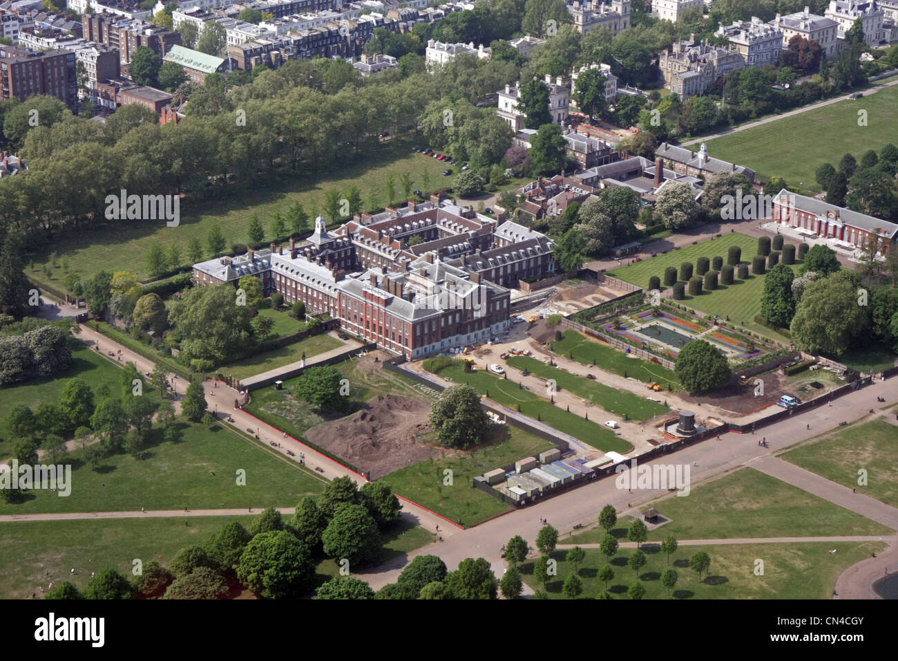 Row House Floor Plan Aerial View Of Kensington Palace The Broad Walk At The