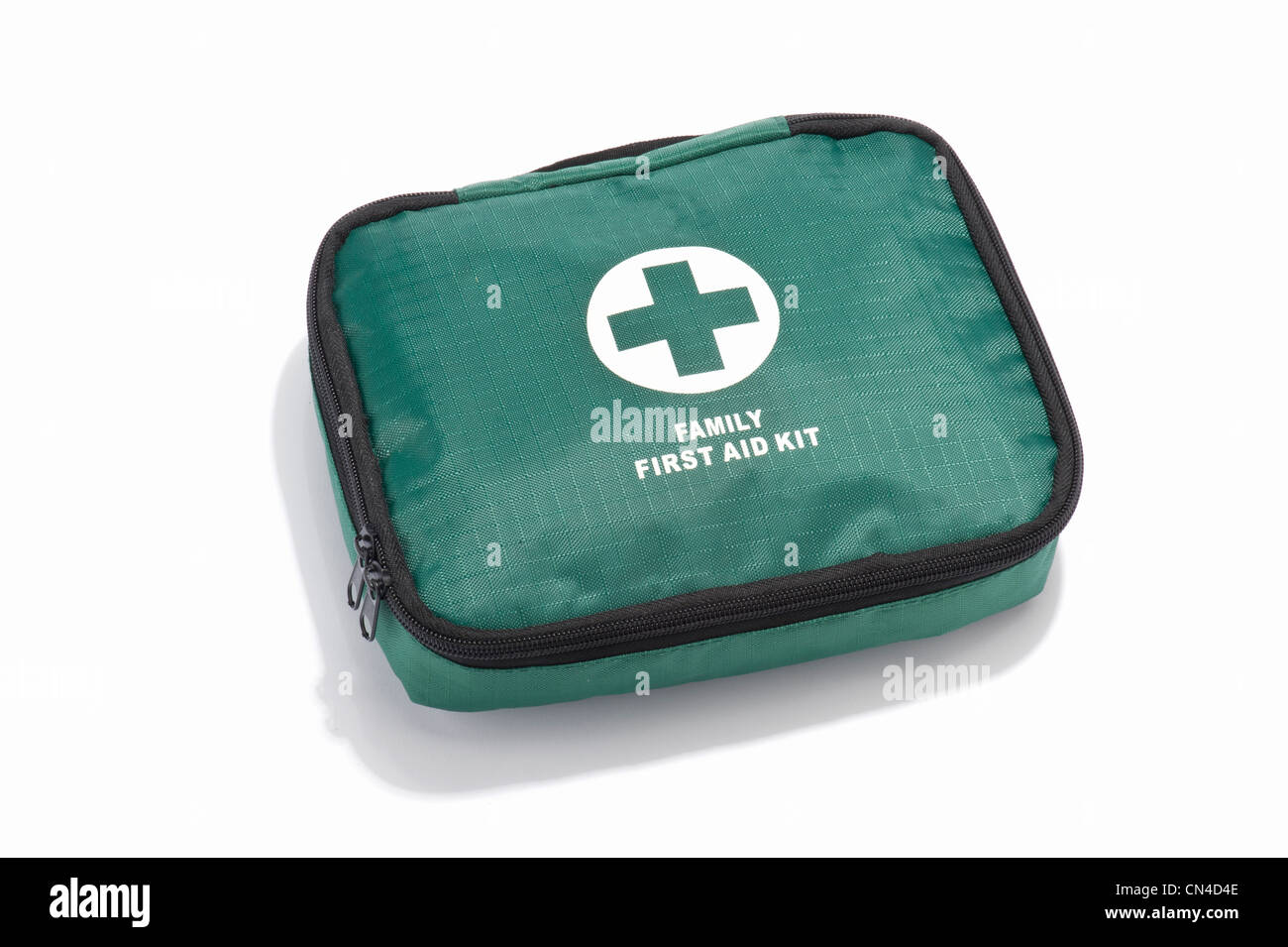 A family first aid kit - Stock Image