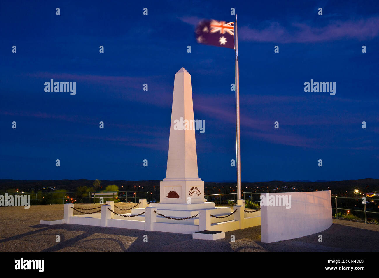 Australia, Northern Territory, Alice Springs, Anzac Hill Lookout (Australian and New Zealand Army Corps) - Stock Image