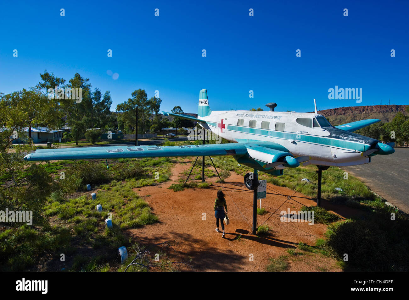 Australia, Northern Territory, Alice Springs, Flying Doctors memorial - Stock Image