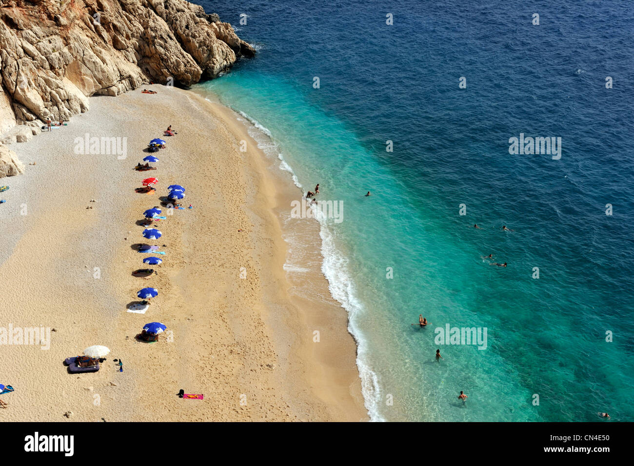 Turkey, Mediterranean Region, Turquoise Coast, Kaputas beach near Kalkan - Stock Image
