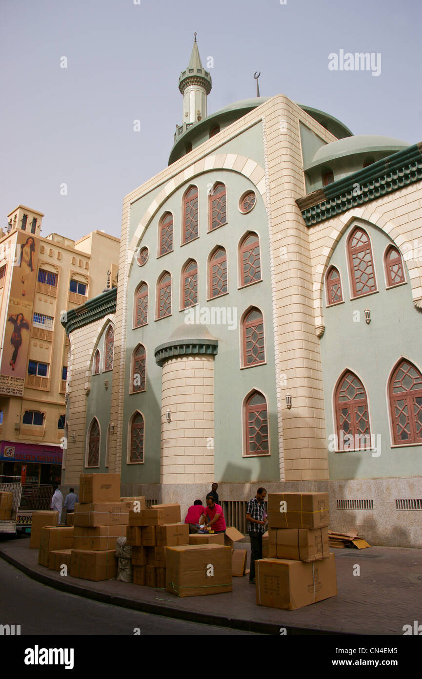 A mosque near the gold souk, Deira, Dubai, United Arab Emirates