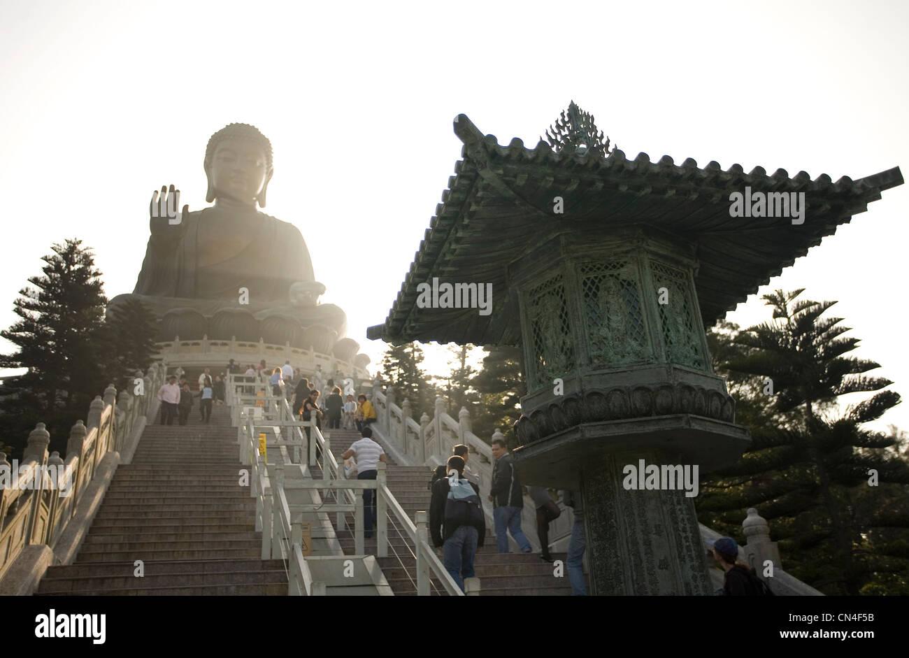 The Big Buddha of Lantau island - Stock Image