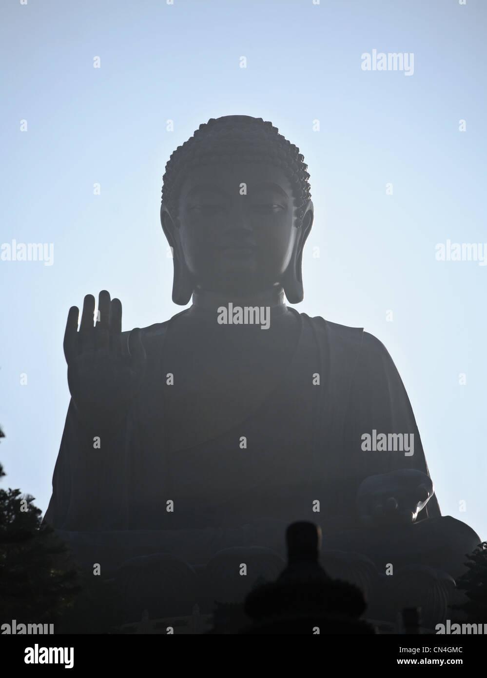 Big Buddha, Hong Kong, Lantau Island - Stock Image