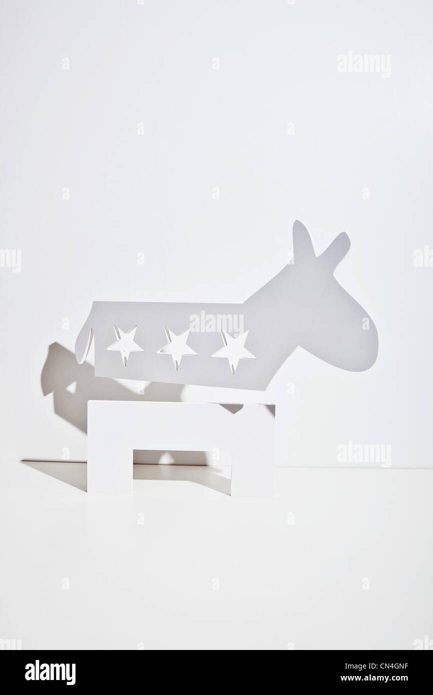 Democratic donkey - Stock Image