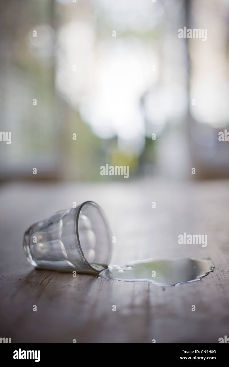 Glass tipped over - Stock Image