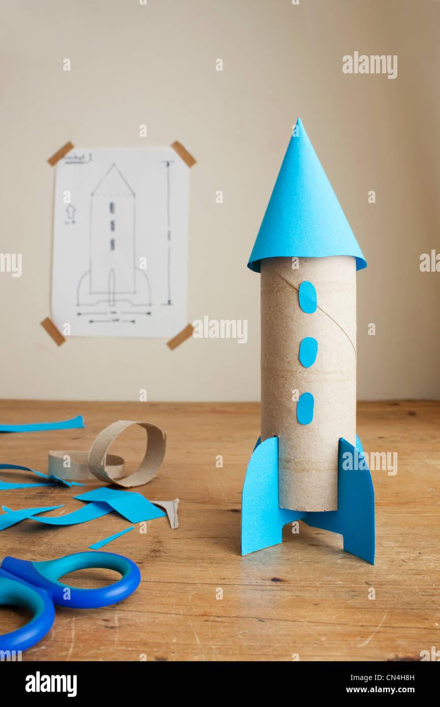Child's model rocket - Stock Image