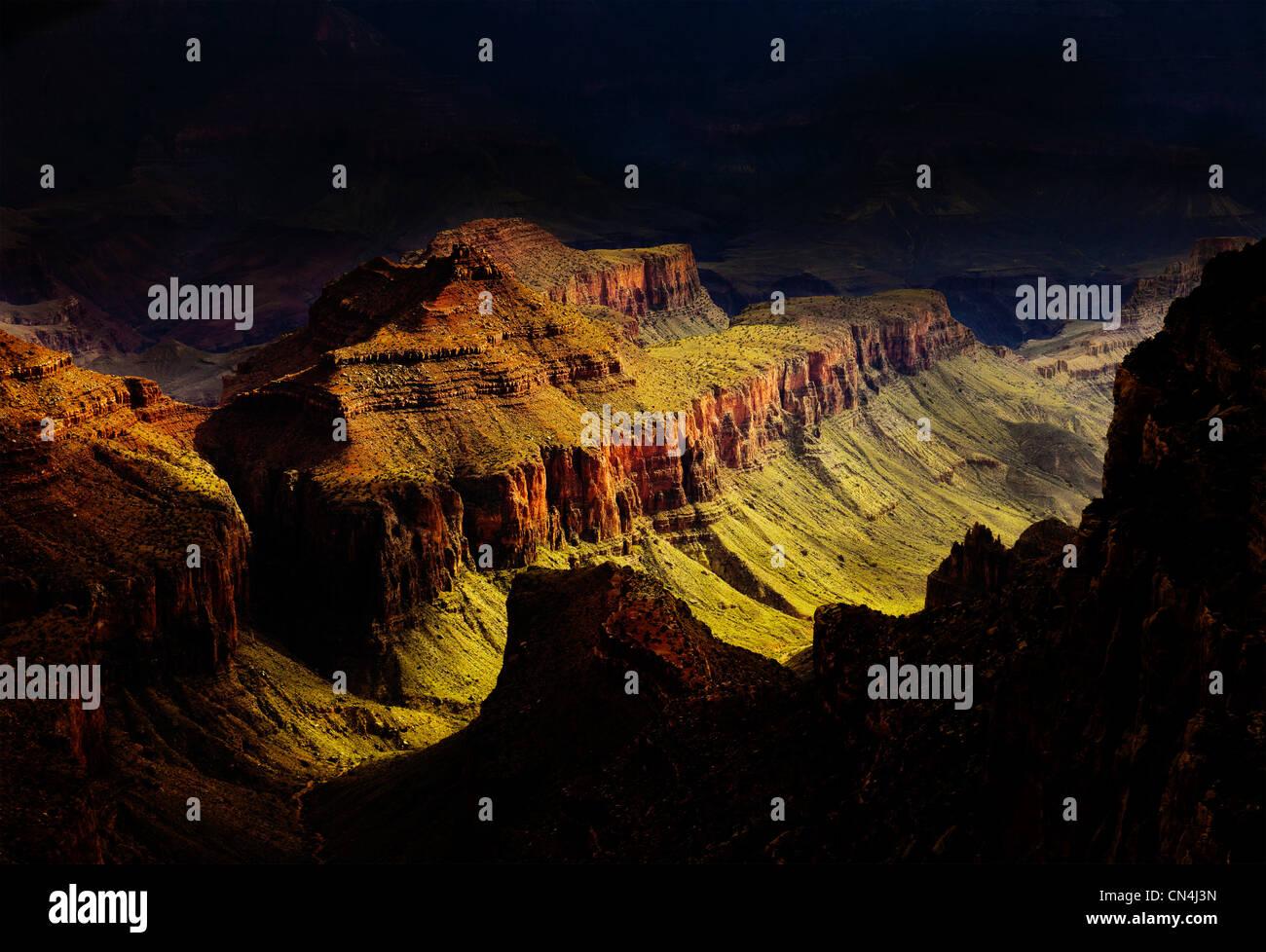 Grand Canyon North Rim, Arizona, USA Stock Photo