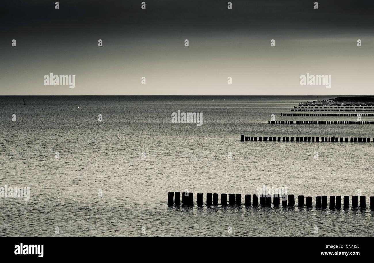 Sea of Zingst, Mecklenburg-Vorpommern, Germany - Stock Image