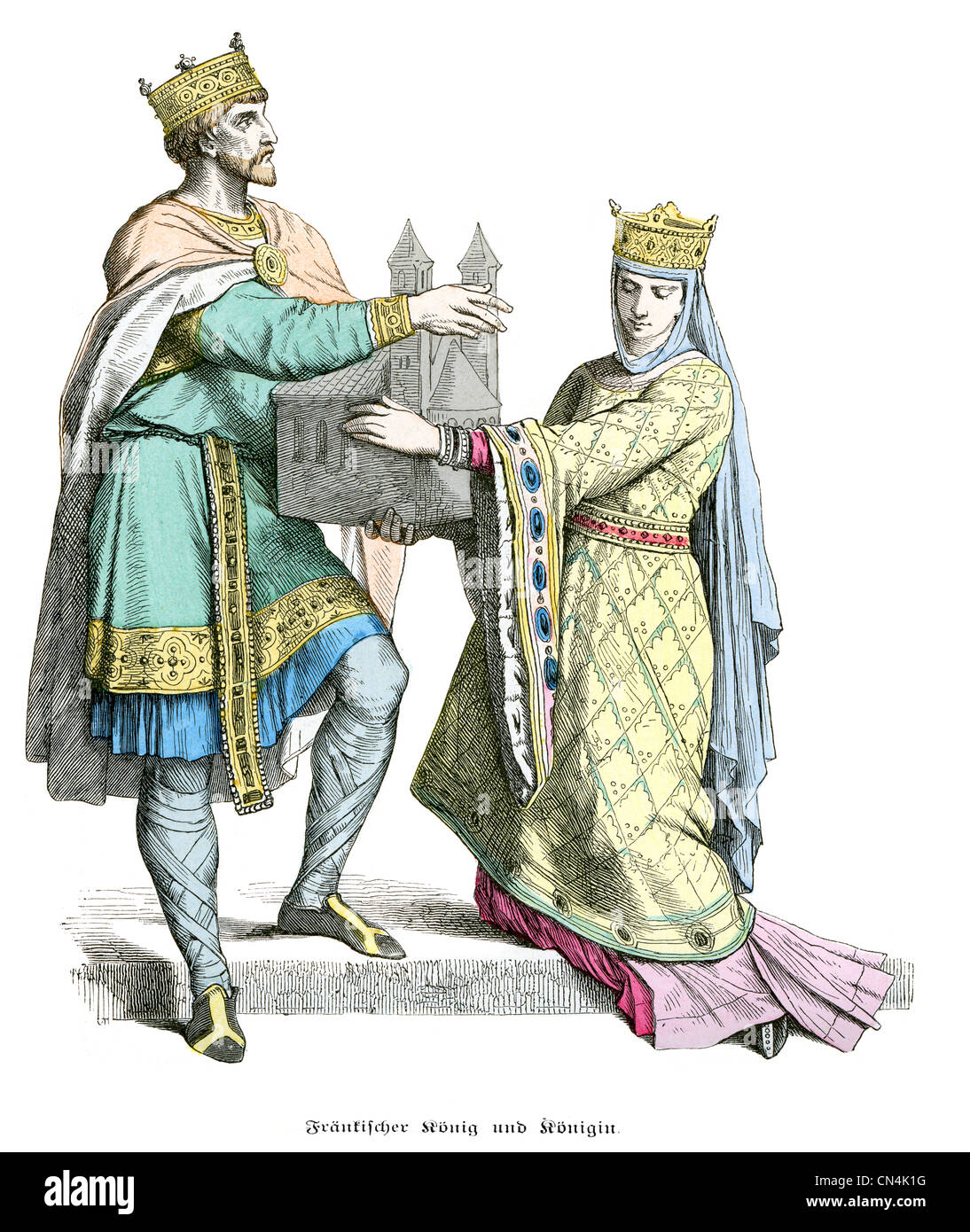 10th century costume | Queen. French Costume. 10th Century