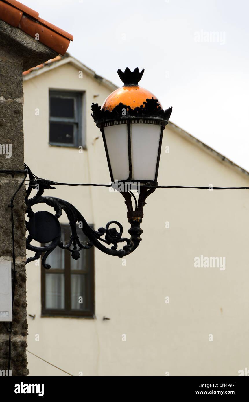 Street lamp - Laze, Galicia - Spain - Stock Image