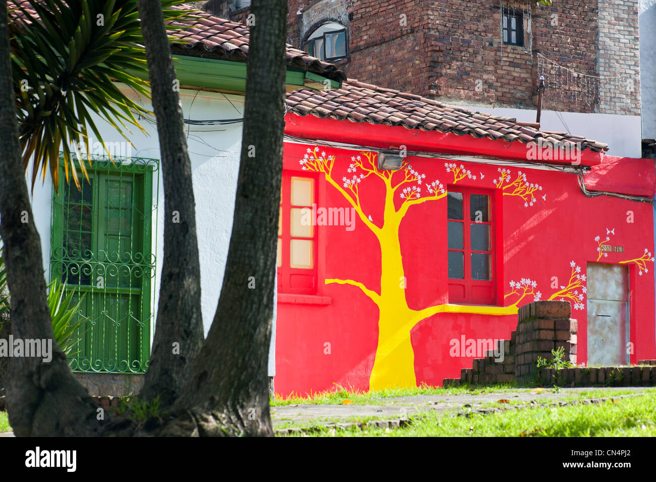 Colombia, Cundinamarca Department, Bogota, La Candelaria District - Stock Image