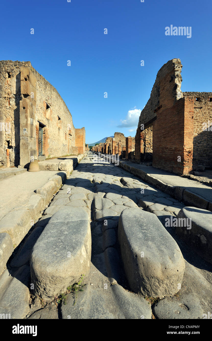 Italy, Campania, Pompei, archeological site listed as World Heritage by UNESCO - Stock Image