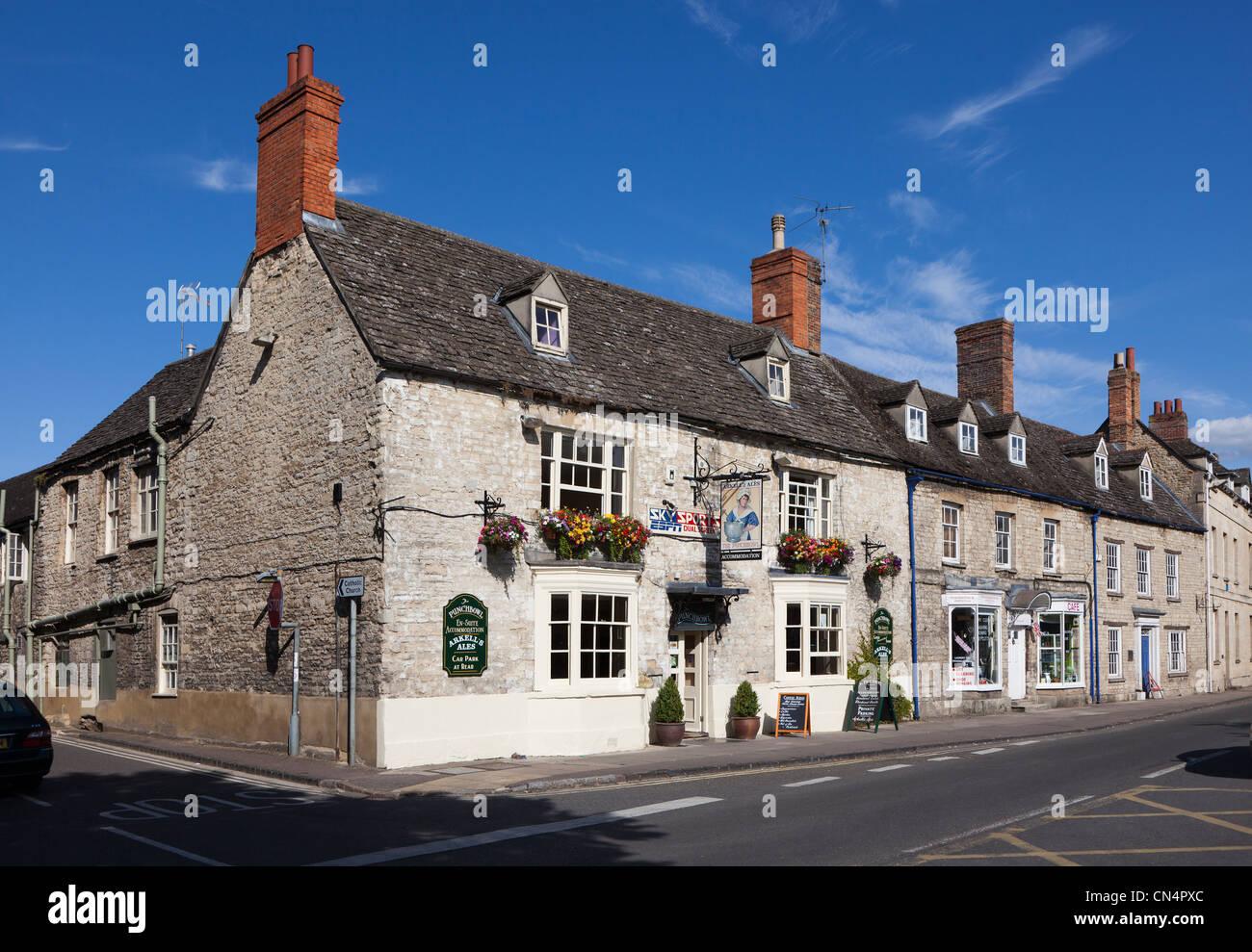 The Punchbowl public house, Woodstock, Oxfordshire, UK - Stock Image