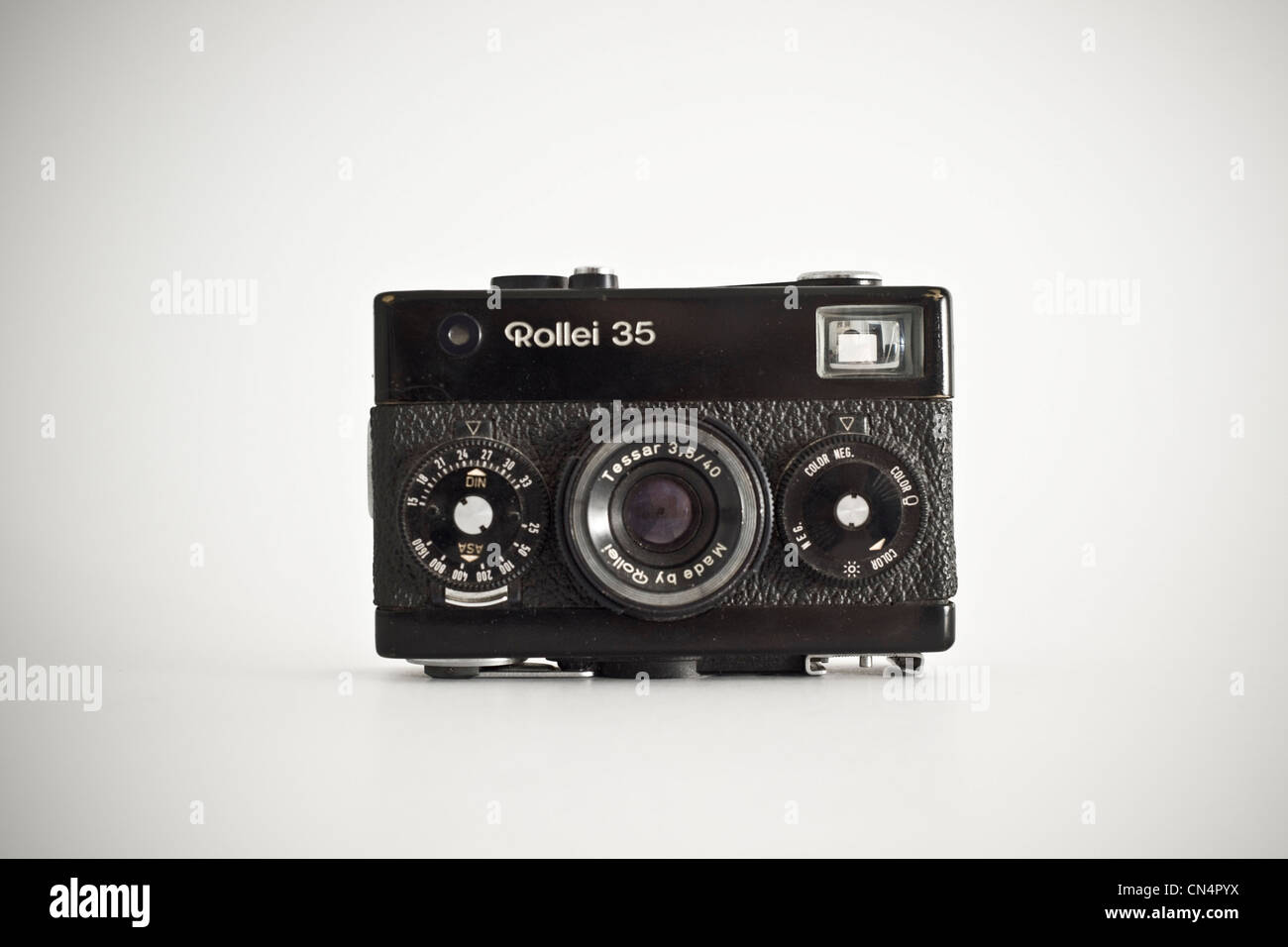 Classic old camera Rollei 35 Stock Photo