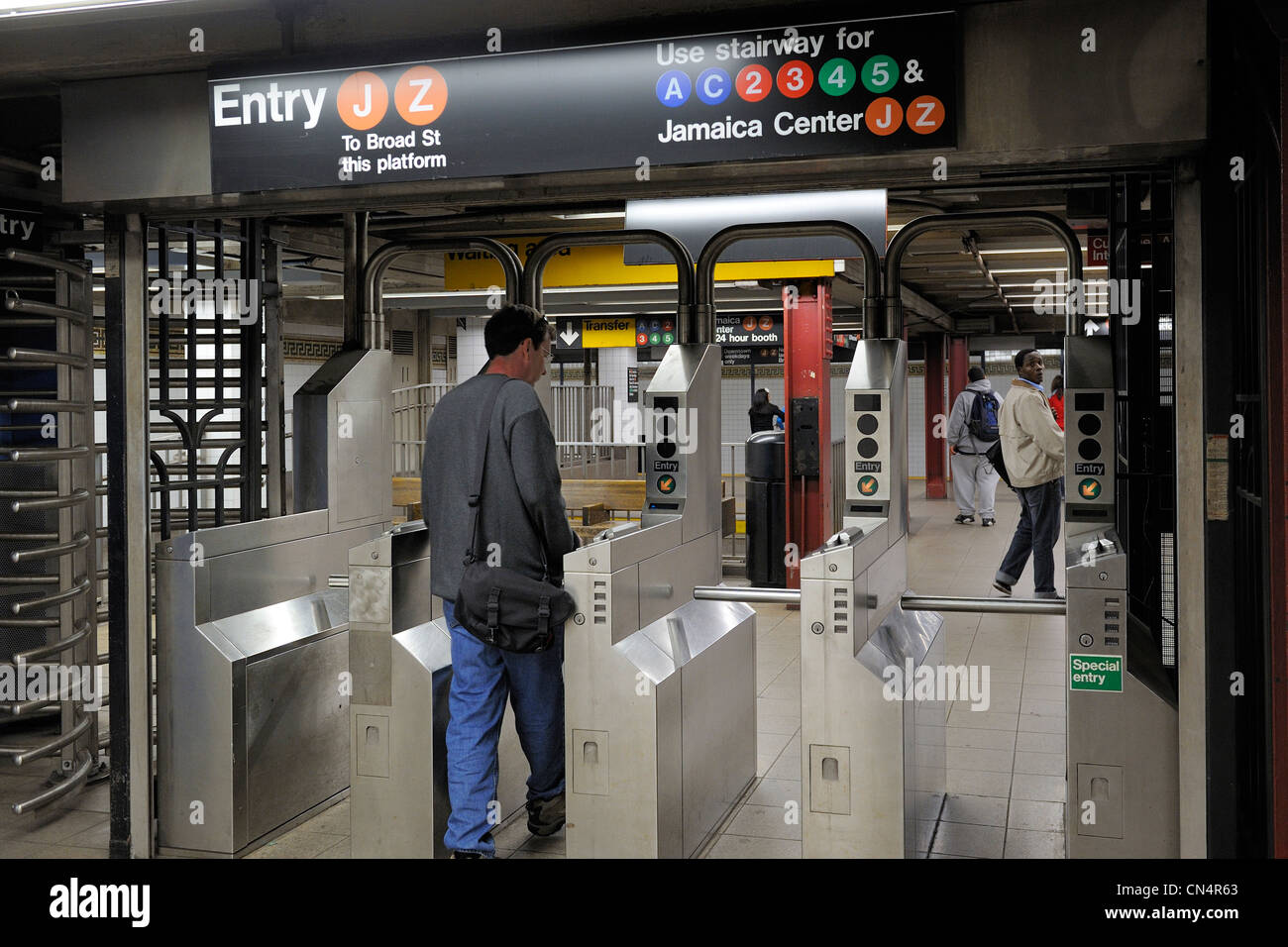 United States, New York, Manhattan, subway station - Stock Image