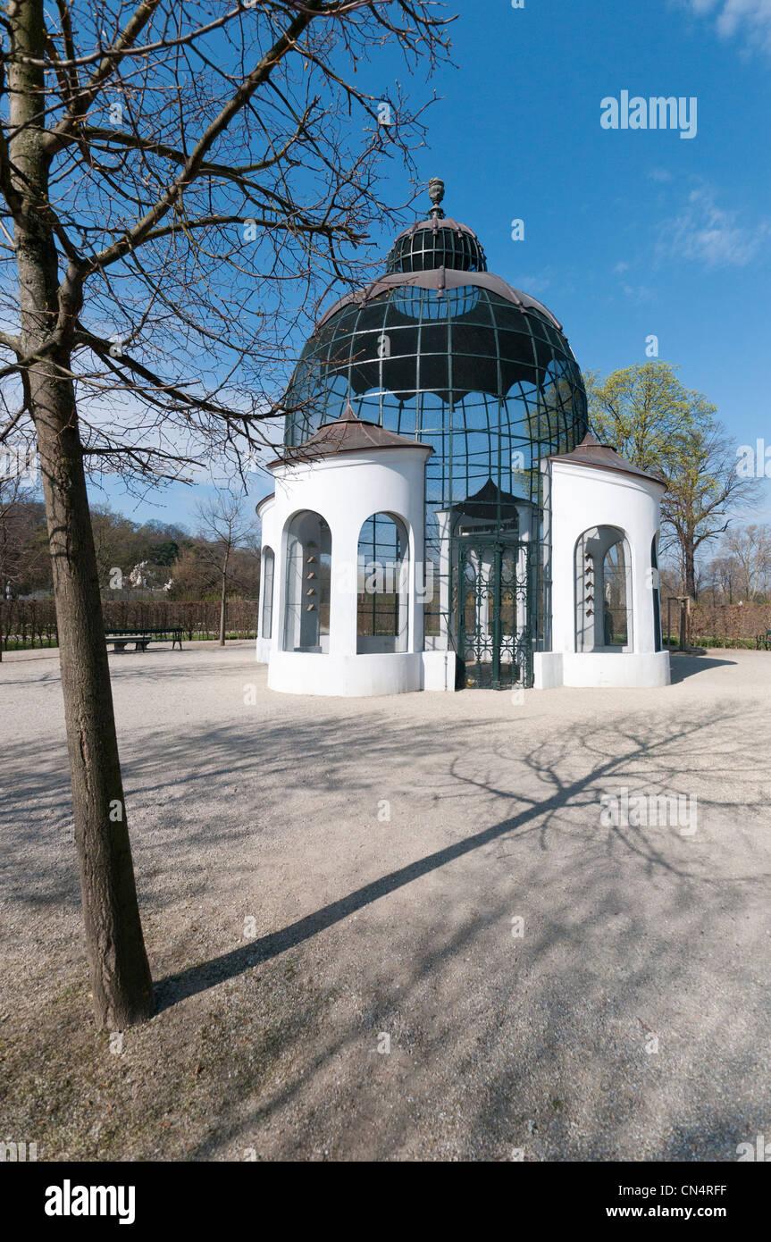 The columbary (Dovecote or pigeon loft) at the Schloss Schönbrunn (Schönbrunn Palace) was built between - Stock Image