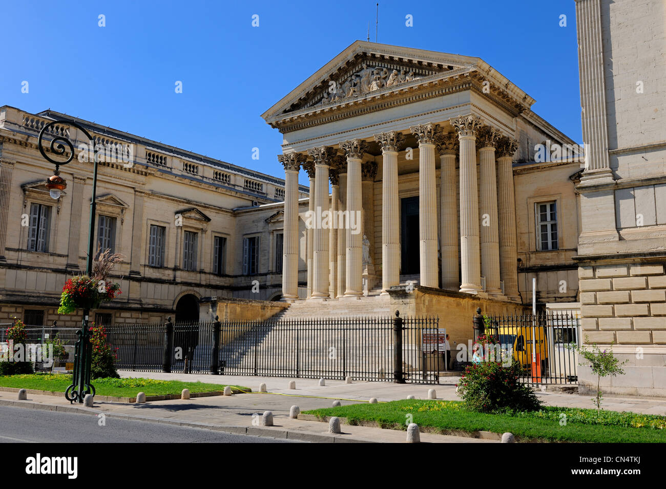 France, Herault, Montpellier, the Courthouse - Stock Image