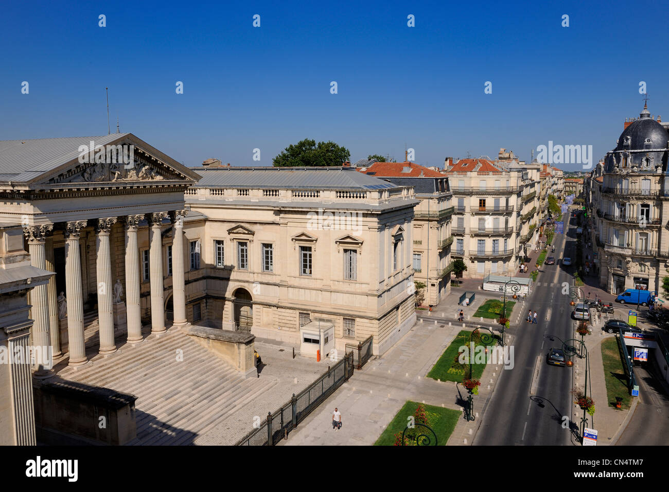 France, Herault, Montpellier, the Ecusson, the Courthouse on Foch street - Stock Image