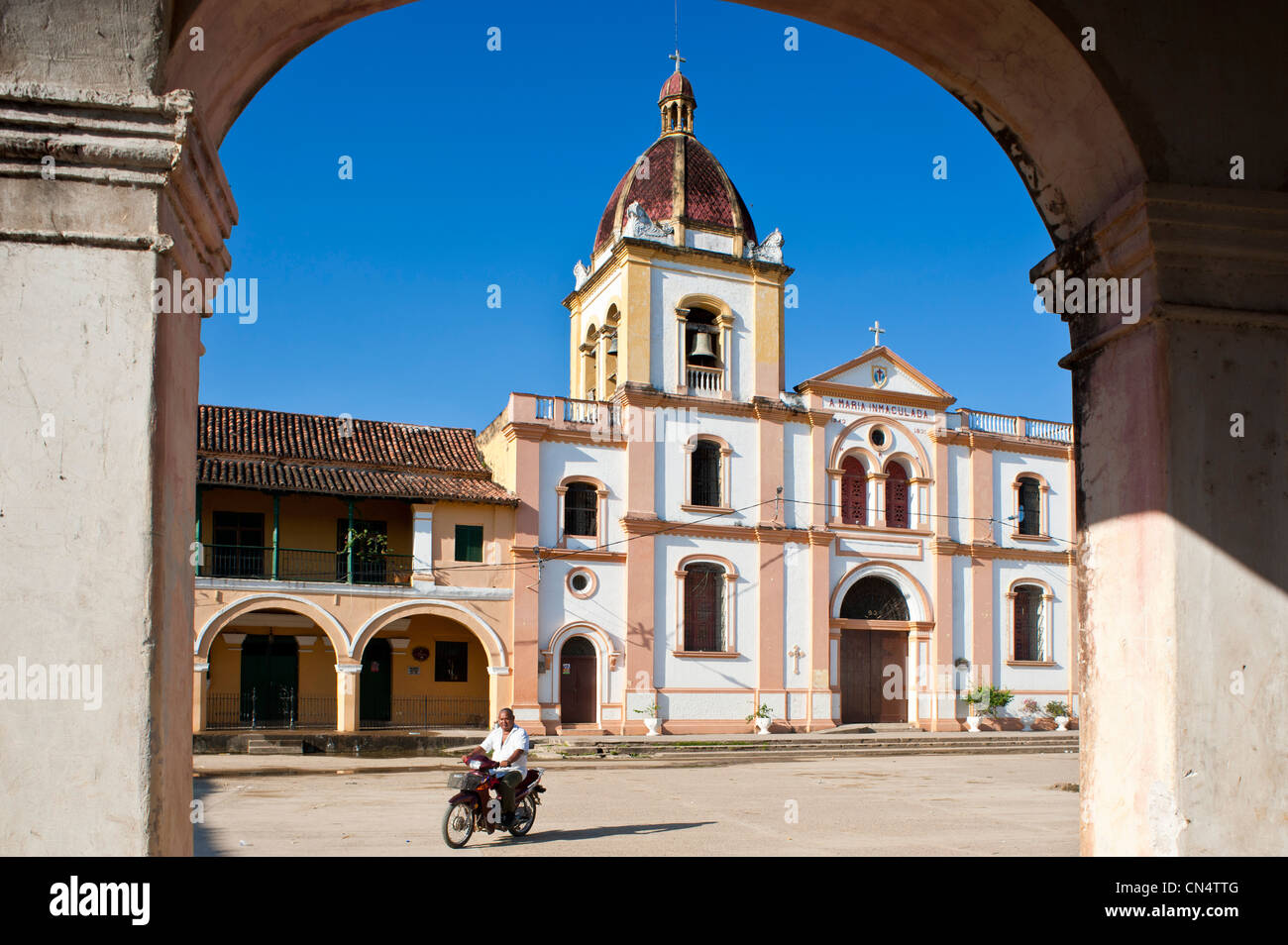 Colombia, Bolivar Department, Mompox (or Mompos), city founded in 1540 and listed as World Heritage by UNESCO, the - Stock Image