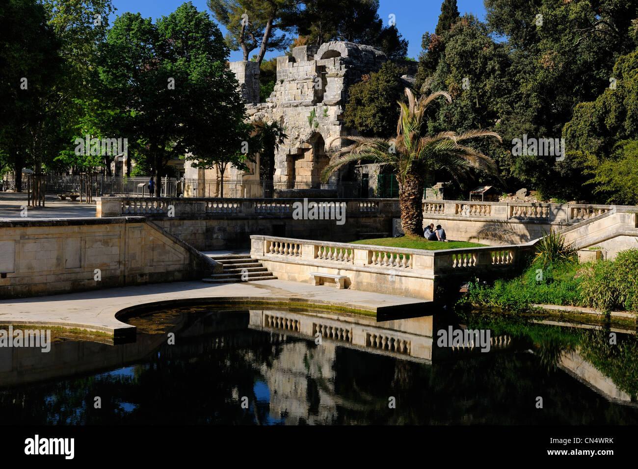 France Gard Nimes Fountain Gardens Stock Photos France Gard