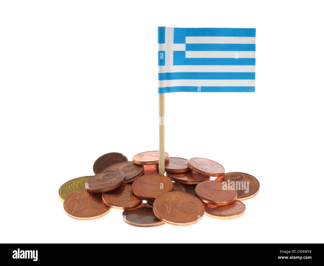 Greek Financial Crisis - Stock Image