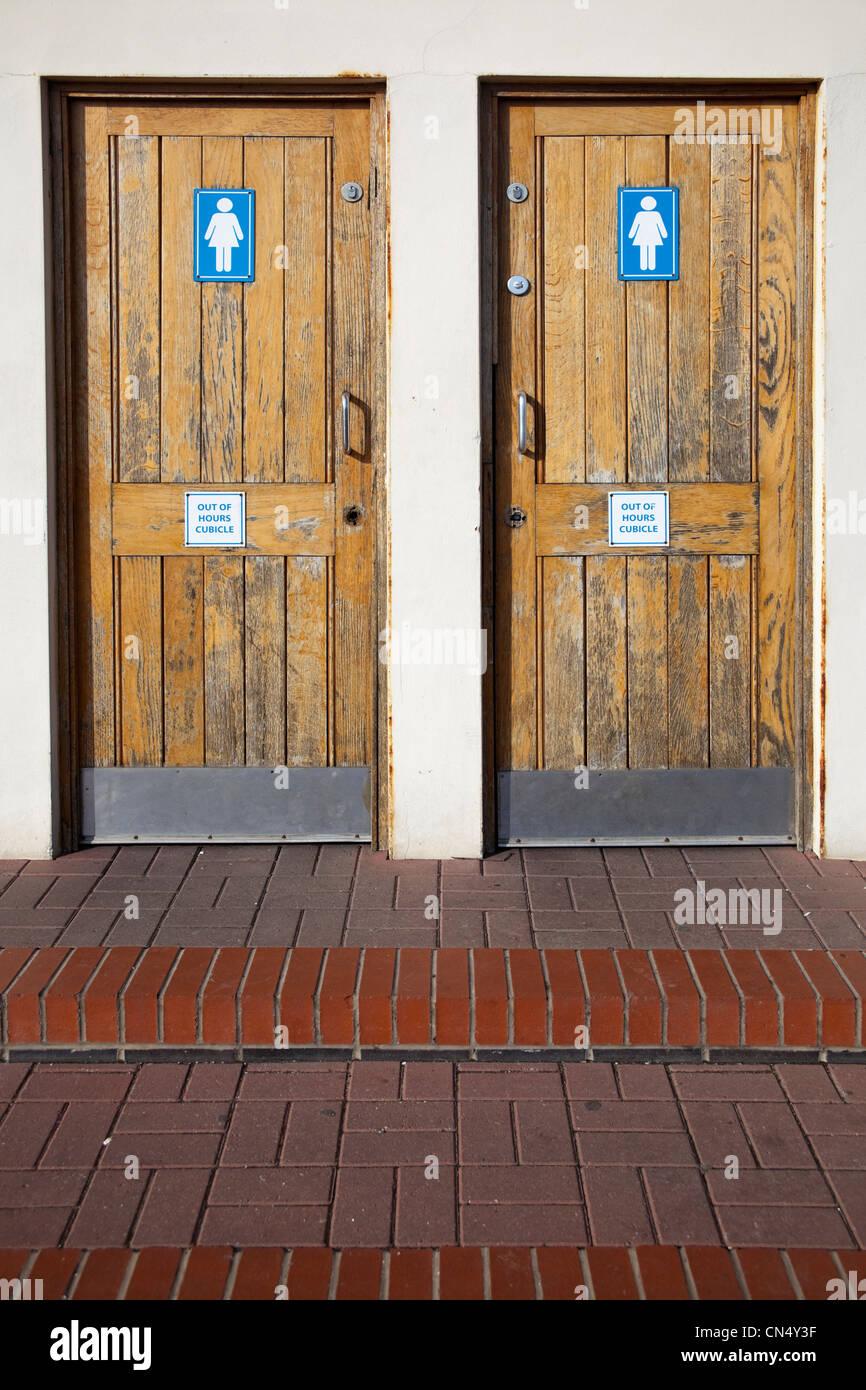 WC toilet doors, UK - Stock Image
