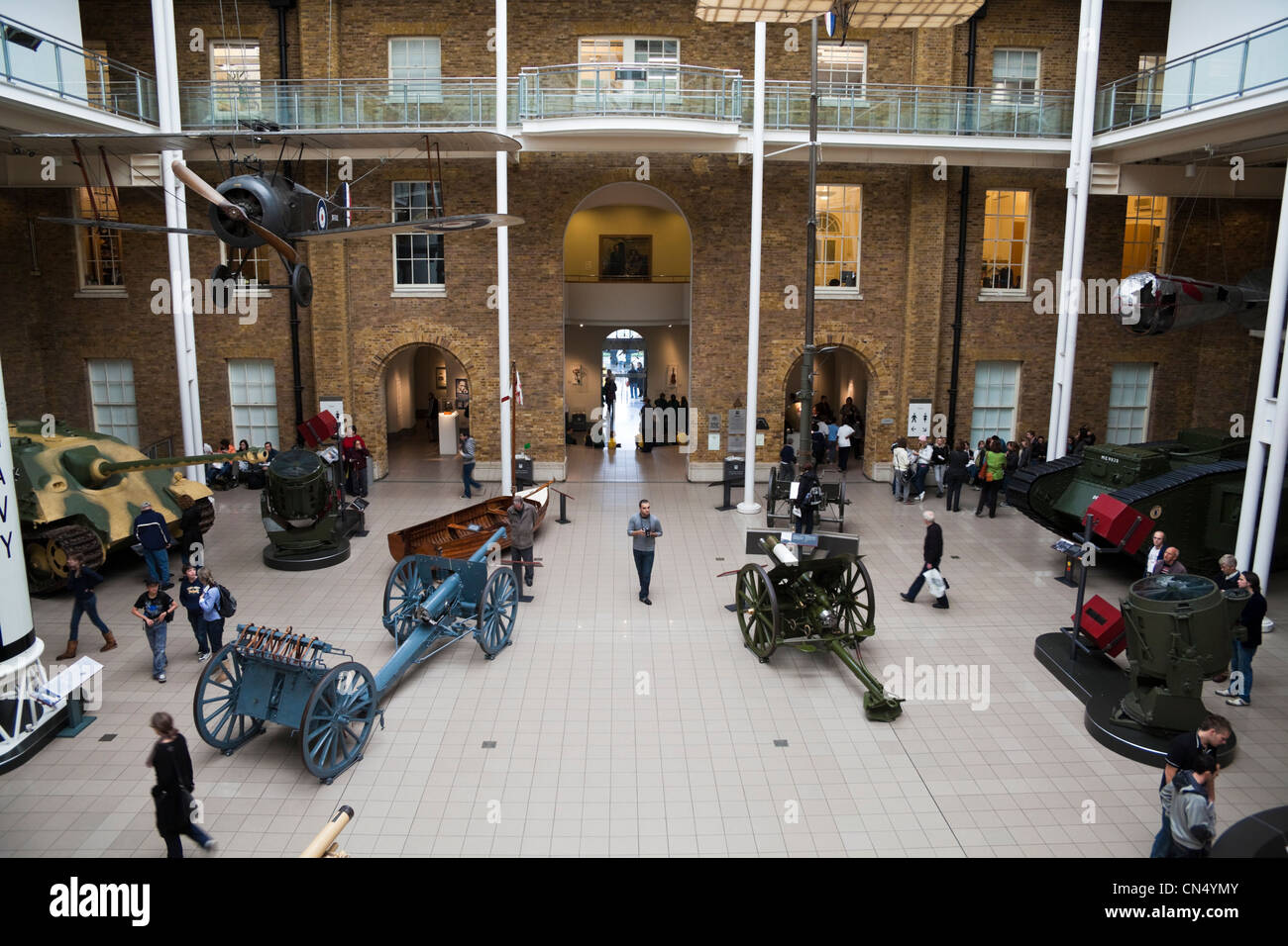 Inside the Imperial War Museum, London, UK - Stock Image