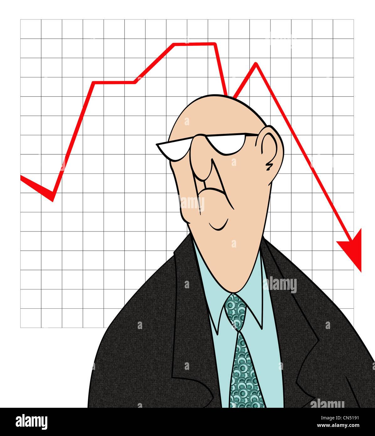 Bad Sales Chart Stock Photo - Alamy