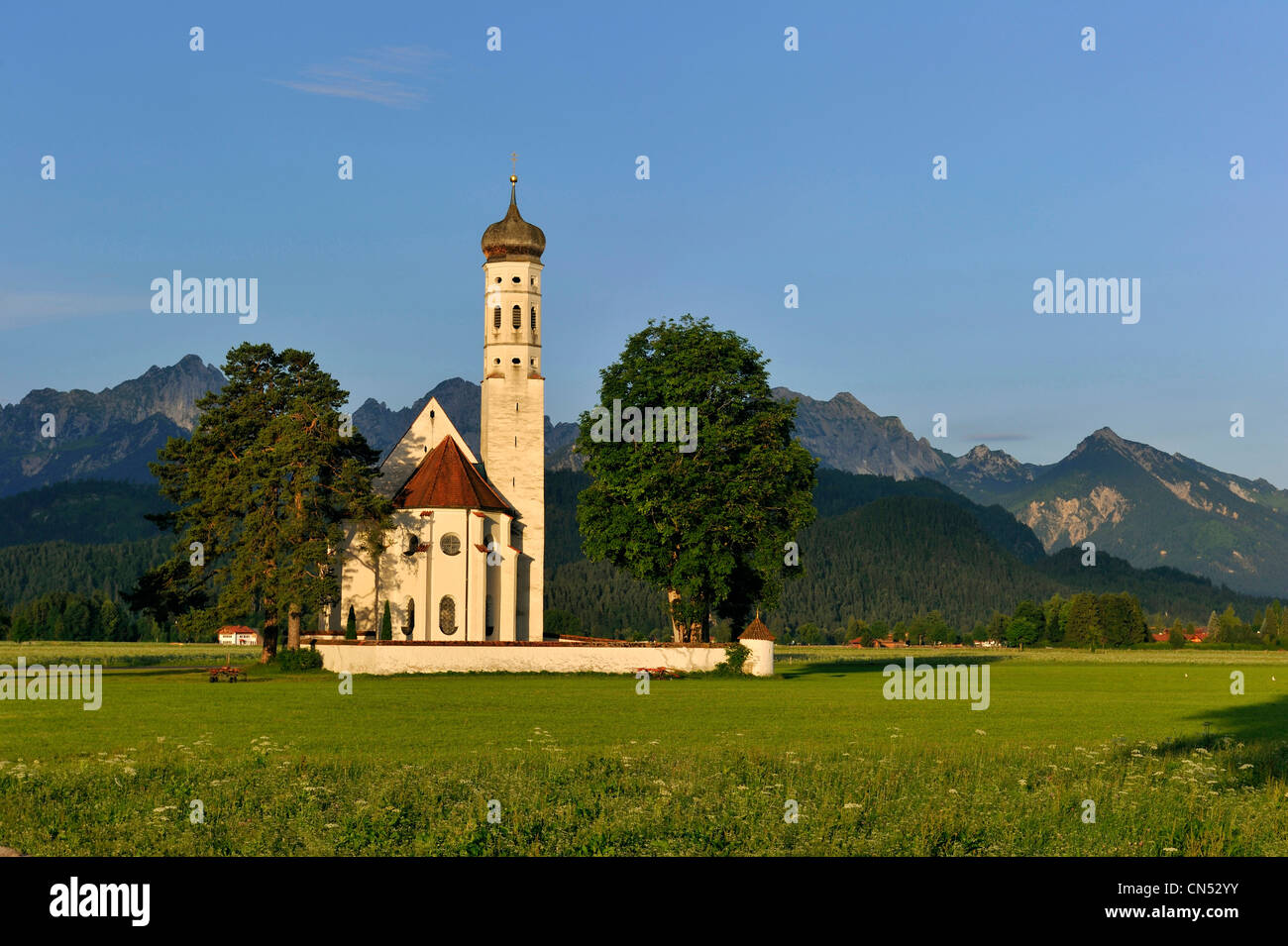 Germany, Bavaria, Schwangau, St Coloman church - Stock Image