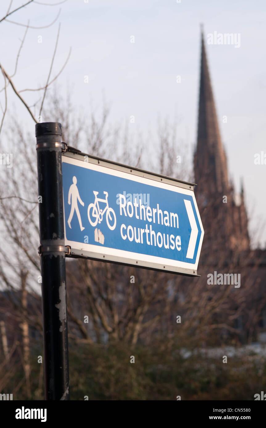 Rotherham Magistrates Court - Stock Image