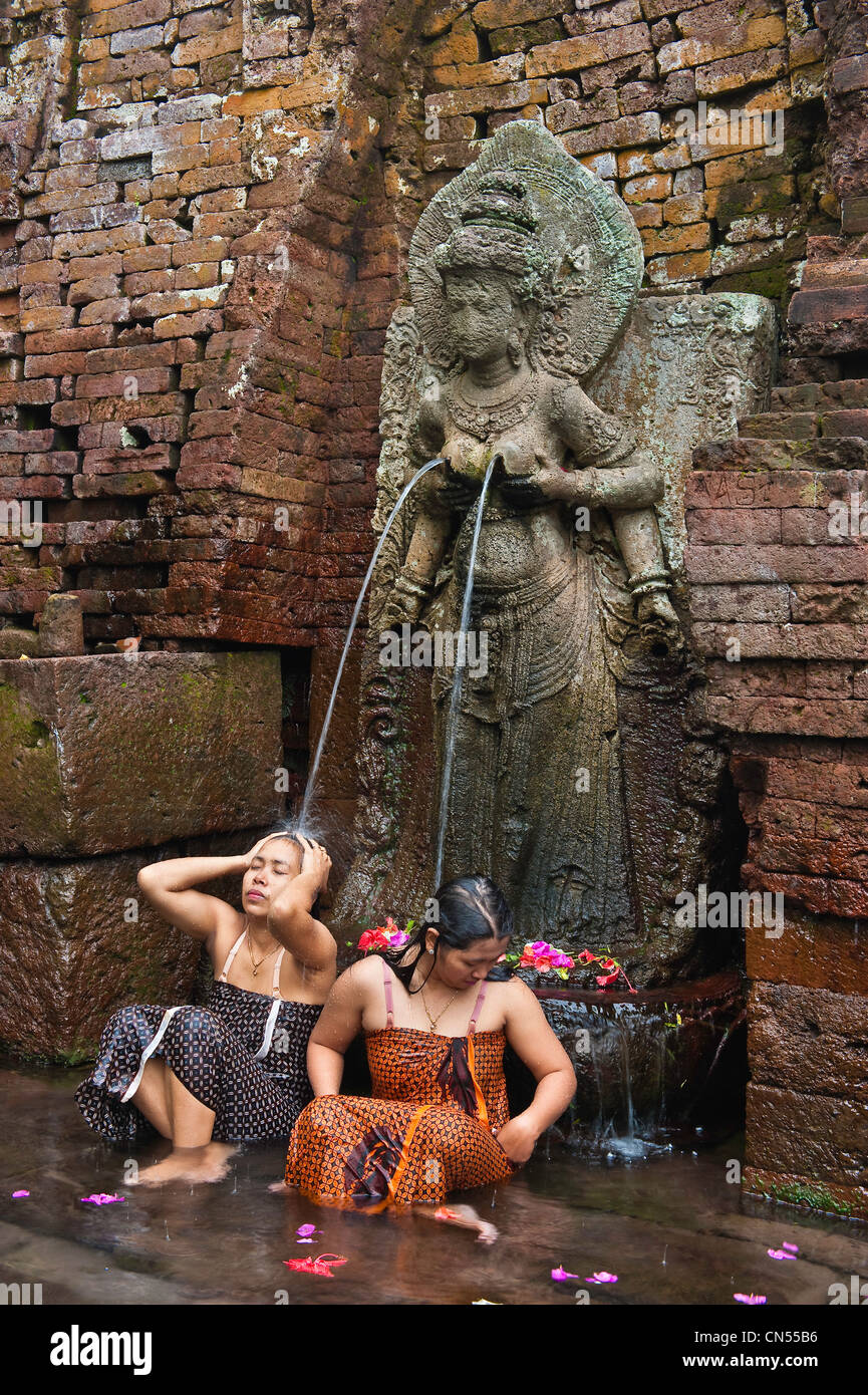Indonesia, Java, East Java Province, Candi Belahan Temple, fountain of youth Stock Photo